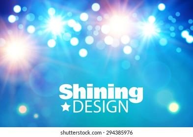 Light & color design. Vector illustration.