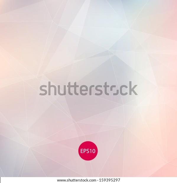 浅色微妙的苍白矢量抽象多边形背景。 现代和时尚的几何图案. 光滑和浅色调。 适用于当代网页和印刷设计。