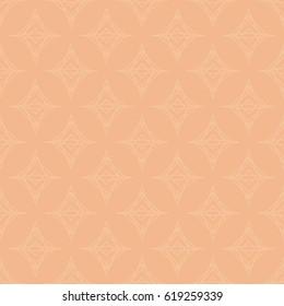 Light cream orange abstract geometric pattern. Repeating geometric background. Seamless vector pattern