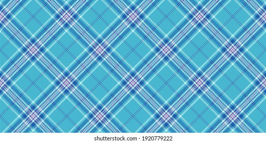 light and dark blue stripes and pink threads on cyan background fabric texture of traditional checkered tartan repeatable diagonal ornament for plaid tablecloths shirts gingham clothes dresses bedding