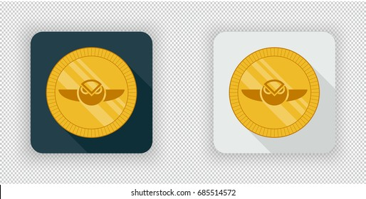 Light and dark crypto currency icon Gnosis on a transparent background