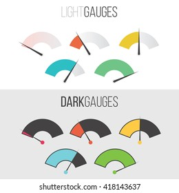 Light and dark gauge