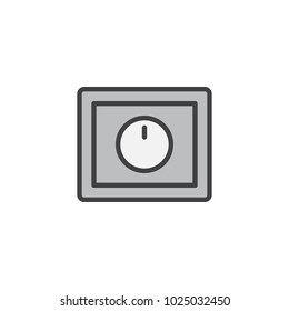 Light dimmer switch filled outline icon, line vector sign, linear colorful pictogram isolated on white. Symbol, logo illustration. Pixel perfect vector graphics