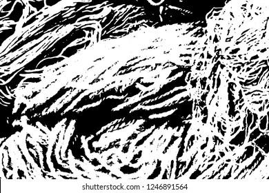 Light Distressed Background. Ink Print Distress Background. Grunge Texture. Vector.