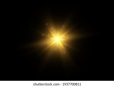 Light effect glow. Bright Star. White glowing light burst explosion with transparent.