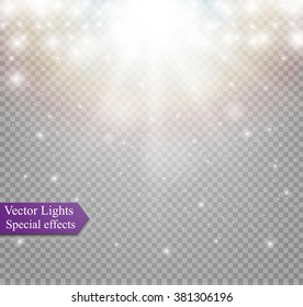 light effect in sky, explosion on transparent background