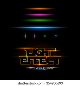 Light Effect for Space war design. Vector Background