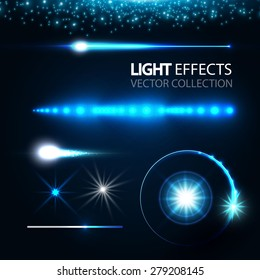 Light effects collection. Vector illustration