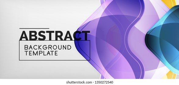 Light effects glossy arrows background, vector illustration