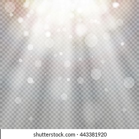 Light flare special effect with rays of light and magic sparkles.