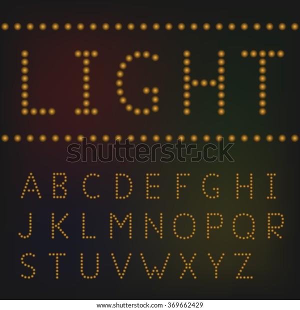 Light Font Banner Signboard Cafe Shop Stock Vector (Royalty
