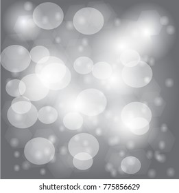 Light gray bokeh background bright gray