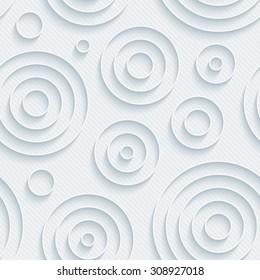 Light gray circles walpaper. 3d seamless background. Vector EPS10.