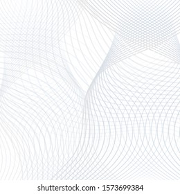 Light gray grid pattern. Abstract modern background. Technology thin undulating curves.Vector wavy line art concept for industrial design. Futuristic intersecting lines. EPS10 illustration