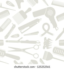 Light gray hair styling related seamless background