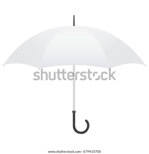 Light Gray Open Umbrella Mockup Isolated Stock Vector