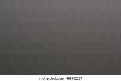 Light gray triangle mosaic template. A sample with polygonal shapes. The completely new template can be used for your brand book.