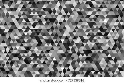 Light Gray vector abstract mosaic template. Brand-new colored illustration in blurry style with gradient. The polygonal design can be used for your web site.