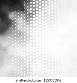 Light Gray vector backdrop with rectangles. Colorful illustration with gradient rectangles and squares. Template for cellphones.