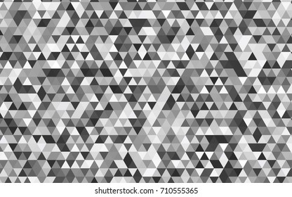 Light Gray vector blurry triangle background. Creative illustration in halftone style with gradient. Brand-new style for your business design.