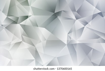 Light Gray vector gradient triangles template. Shining polygonal illustration, which consist of triangles. Brand new style for your business design.