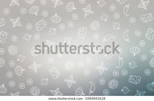 Light Gray vector layout with restaurant food. Beautiful colored illustration with food in doodle style. Design for ad, poster, banner of cafes or restaurants.