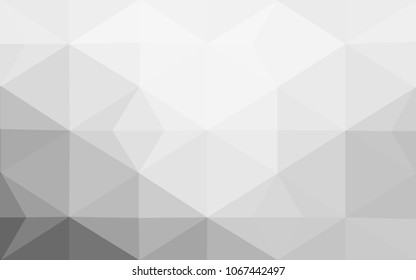 Light Gray vector Low poly crystal background. Polygon design pattern. Low poly illustration, low polygon background.