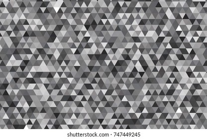 Light Gray vector polygon abstract pattern. Modern geometrical abstract illustration with gradient. The polygonal design can be used for your web site.
