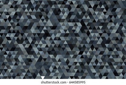 Light Gray vector polygonal template. Triangular geometric sample with gradient.  Brand-new style for your business design.