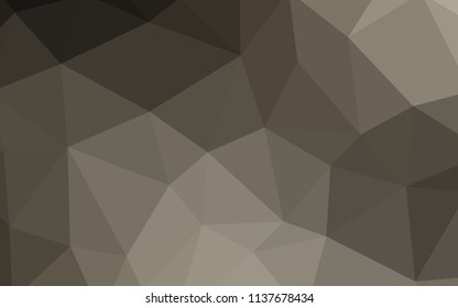 Light Gray vector shining triangular layout. Elegant bright polygonal illustration with gradient. Brand new style for your business design.