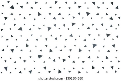 Light Gray vector  triangle mosaic texture. Creative illustration in halftone style with triangles. Template for cell phone's backgrounds.