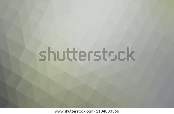 Light Gray vector triangle mosaic template. Colorful illustration in polygonal style with gradient. New template for your brand book.