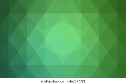 Light green blurry triangle background. Shining colored illustration in a brand-new style. Brand-new design for your business.
