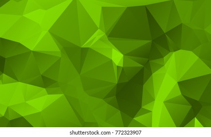 Light Green Nature Color Polygon Background Design, Abstract Geometric Origami Style With Gradient
