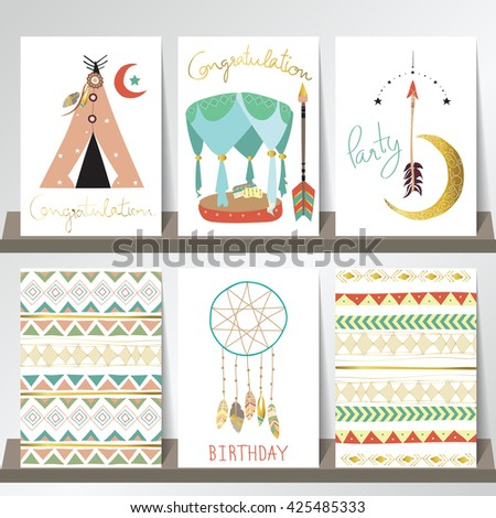 Light Green Pink Gold Card Template Stock Vector Royalty Free