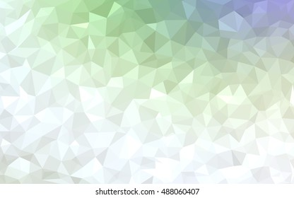 Light green polygon abstract pattern. Brand-new colored illustration in blurry style with gradient. A completely new design for your business.