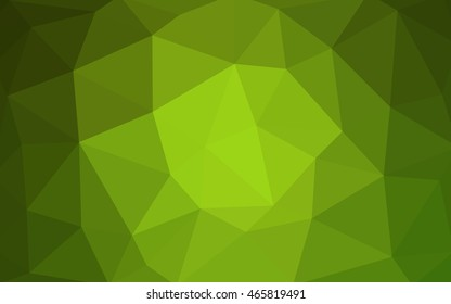 Light green polygonal illustration, which consist of triangles. Triangular design for your business. Geometric background in Origami style with gradient.