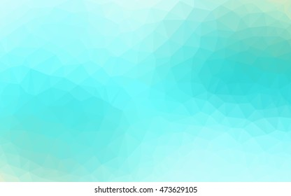 Light green polygonal pattern. Triangular geometric sample with gradient.  A new texture for your design.
