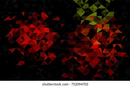 Light Green, Red vector blurry triangle template. A sample with polygonal shapes. A completely new template for your business design.