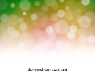 Dark Multicolor Rainbow Vector Bokeh Template Stock Vector (Royalty