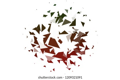 Light Green, Red vector of small triangles on white background. Illustration of abstract texture of triangles. Pattern design for banner, poster, cover.