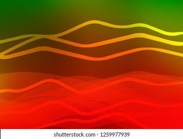 Light Green, Red vector template with repeated sticks. Shining colored illustration with narrow lines. Smart design for your business advert.