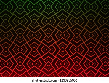 Light Green, Red vector texture with colored lines. Modern geometrical abstract illustration with staves. Pattern for ads, posters, banners.