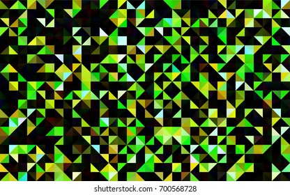 Light Green, Red vector triangle mosaic template. A vague abstract illustration with gradient. The textured pattern can be used for background.