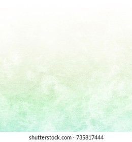 Light green texture, abstract hand painted watercolor background, vector illustration
