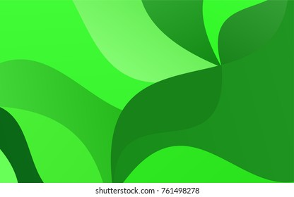 Light Green vector abstract cambered template. A completely new color illustration in a vague style. A completely new template for your business design.