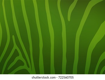 Light Green vector abstract doodle template. Colorful abstract illustration with lines in Asian style. The elegant pattern can be used as a part of a brand book.