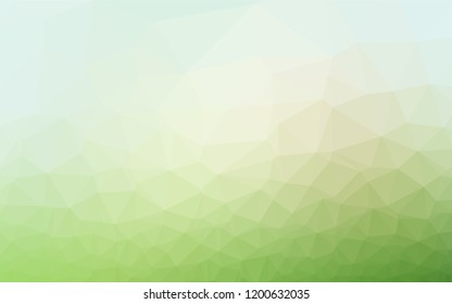 Light Green vector abstract mosaic background. Modern geometrical abstract illustration with gradient. The best triangular design for your business.