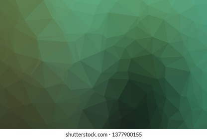 Light Green vector abstract mosaic pattern. Colorful illustration in abstract style with gradient. New texture for your design.