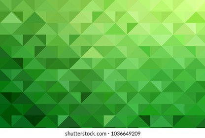 Light Green vector abstract polygonal background. Geometric illustration in Origami style with gradient.  Brand-new style for your business design.